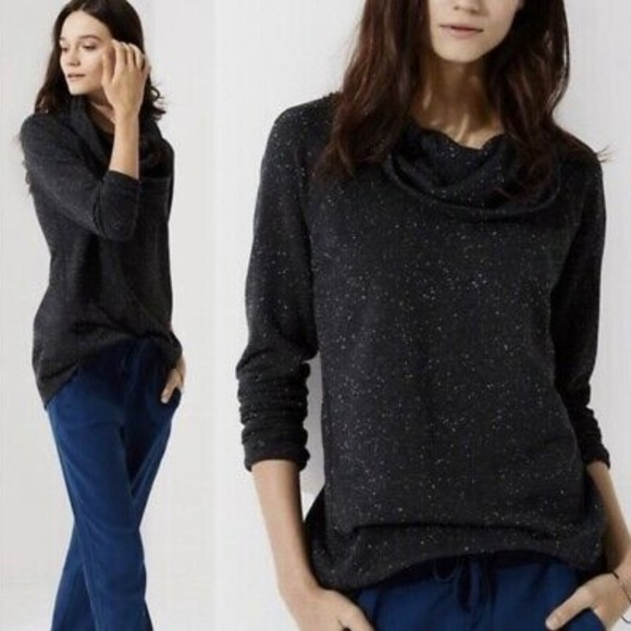 Lou & Grey Sweaters - Lou & Grey Speckled Cowl Neck
